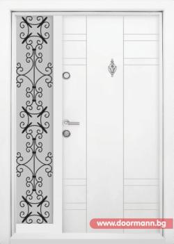 Еднокрила входна врата Т-598- цвят Бял