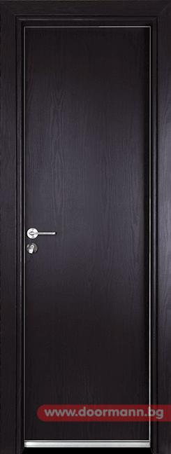 Алуминиева врата за баня - Gama, цвят Венге